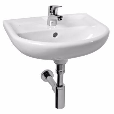 Laufen Jika Lyra Plus håndvask 450x370mm med hanehul midt hvid porcelæn