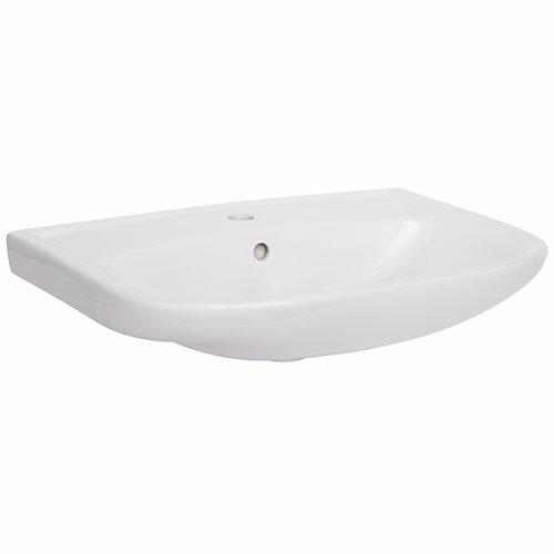 Image of   Alterna Vitra håndvask 570x425mm. Hvid porcelæn