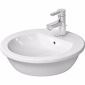 Image of   Duravit Darling New vask til bord Ø47 med overløb, hanehul og Wondergliss