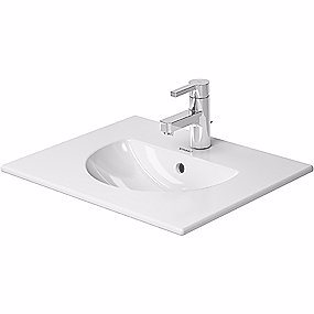 Image of   Duravit Darling New møbelvask 530x430 mm med overløb, hanehul og Wondergliss