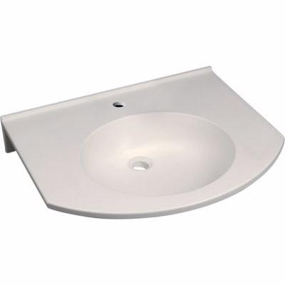 Billede af Geberit PUBLICA håndvask 600x115x550mm Alpin-hvid