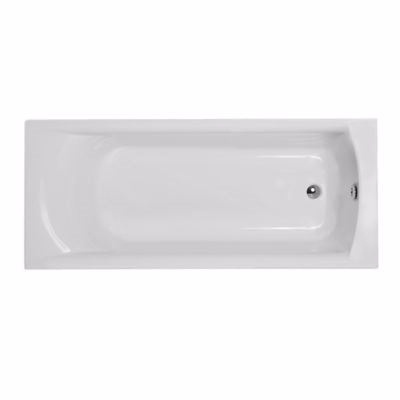 Image of   Strømberg Delta badekar 1600x700mm, rekt. akryl, afløb ved fodenden