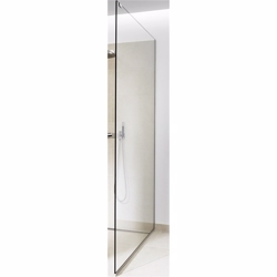 GlassLine, brusevæg, glas: Unidrain Transparent, 1000 mm