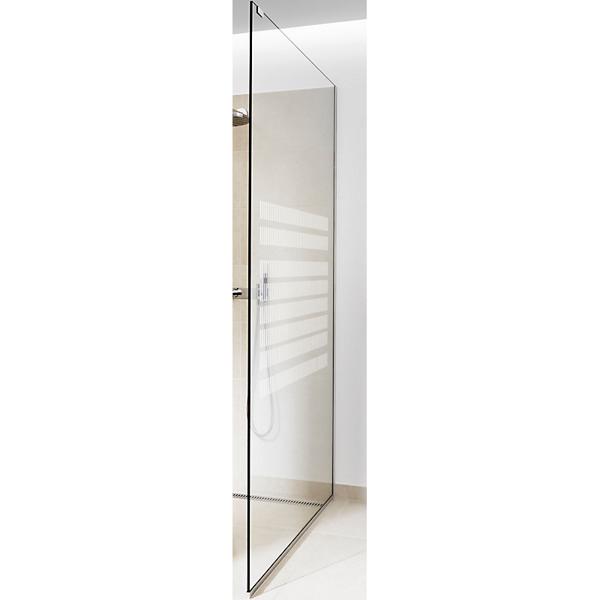 Image of   GlassLine brusevæg glas Unidrain højre: Column, 1000 mm
