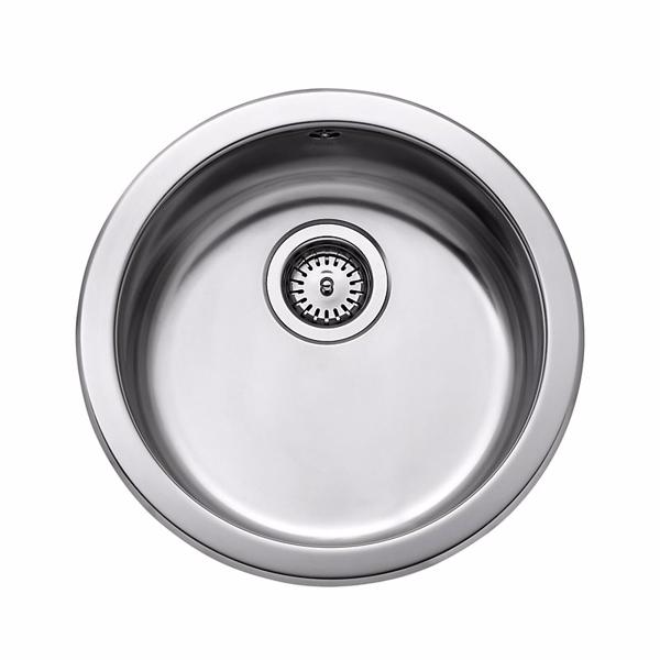 Juvel rund køkkenvask Ø385 med strainer