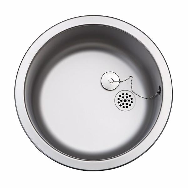 Uni køkkenvask Ø38,5 køkkenvask Ø38,5 mat med prop