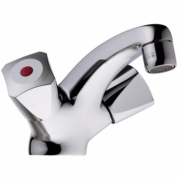 Image of   Børma Standard håndvaskarmatur krom 2-grebs uden bundventil
