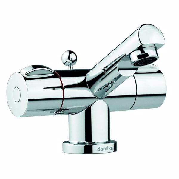 Image of   Damixa Titan håndvaskarmatur 2-grebs. Med bundventil
