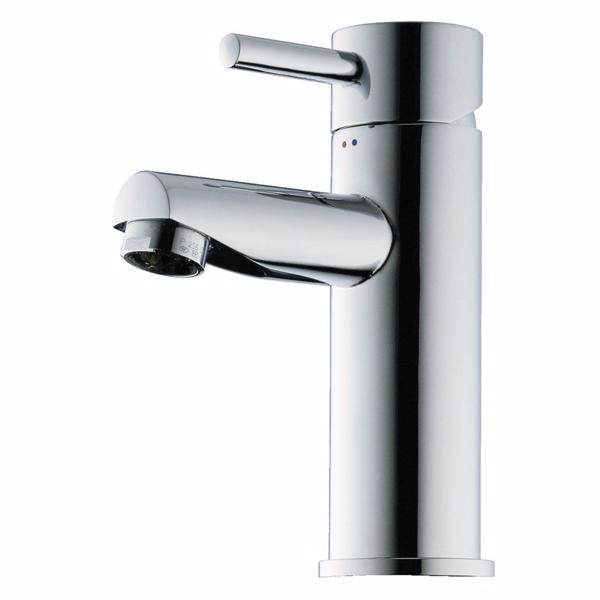 Image of   Børma A1 Håndvaskarmatur stainless look 1-grebs med bundventil