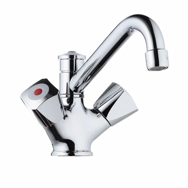 Image of   Børma Standard Håndvask-/brusearmatur krom 2-grebs uden bundvent
