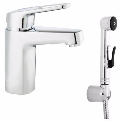 Image of   FFM Siljan håndvaskarmatur 1-greb. Med selvlukkende håndbruser