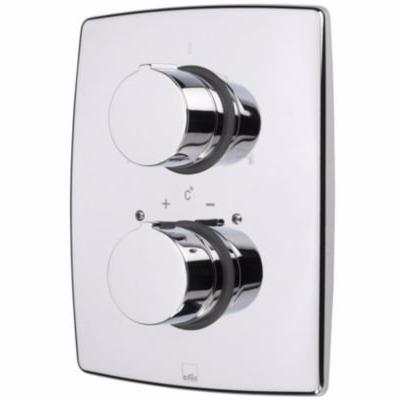 Oras Cubista termostat frontplade til indbygnings kar&brus armatur. Krom