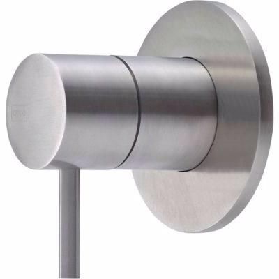 QTOO Circle C90 Grebssæt for termostat. for omsk&vol, komplet udvendig designdele, matbørstet