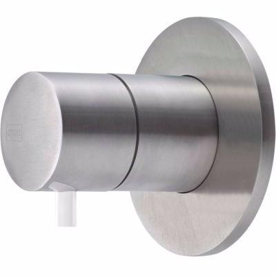 Qtoo Compose C90 Grebssæt f termostat. f omsk&vol, kompl udv. designdele, matbørstet