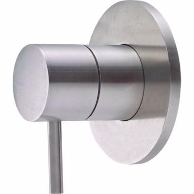 QTOO Circle C90 Grebssæt for termostat. for temp.reg, komplet udvendig designdele, matbørstet