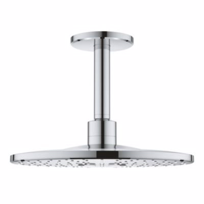 Image of   Grohe Rainshower hovedbruser Ø 310 mm. 142 mm. brusearm. Krom. Husk 736145004