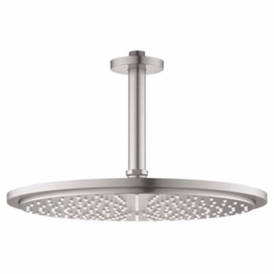 Image of   Grohe Rainshower Cosmopolitan Ø310mm, Hovedbruser sæt til loft 142 mm, 1 spray, supersteel