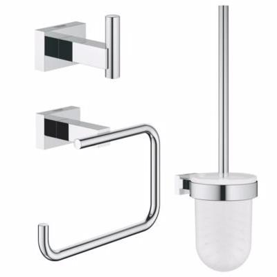 Image of   Grohe Essentials tilbehørssæt 3 i 1, toiletbørsteholder, krog, papirholder