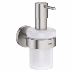 Grohe Essentials Sæbedispenser med holder, Supersteel
