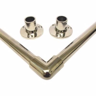 Image of   Van Der P Forhængstang loft til loft 500x1000x500mm med flanger. Rustfrit stål