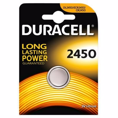 Duracell batteri dl2450 b1 Eksklusiv afgift. Sølvoxid cr2450 3v 24,5x5,0mm