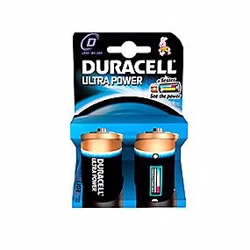 Duracell Ultra Power D batteri 2 stk. pak.