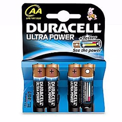 Duracell Ultra Power Plus AA batteri - 4 stk pr. pakke