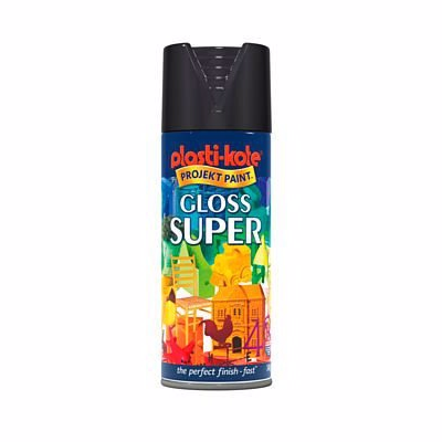 Image of   Borup Super Spraymaling Sort Blank 9005b - 400 ml