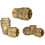 Kompressions fittings, messing